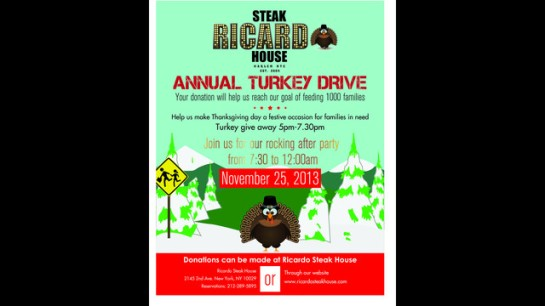 Ricardo Steak House Turkey Giveaway