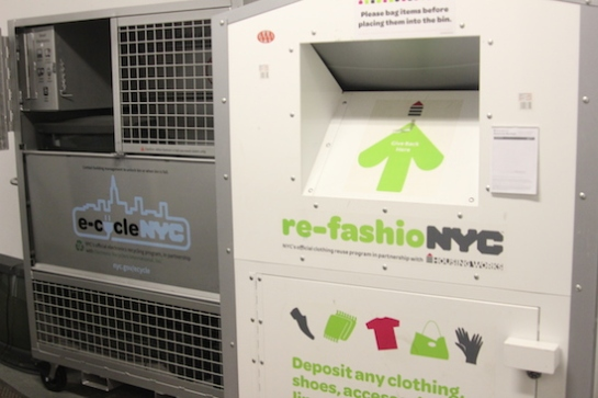 nyc recycle fashion and electronics
