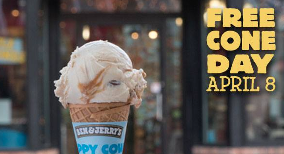 Visit Ben & Jerry's for Free Cone Today!