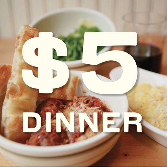 You can get a $5 dinner at The Meatball Shop on Monday