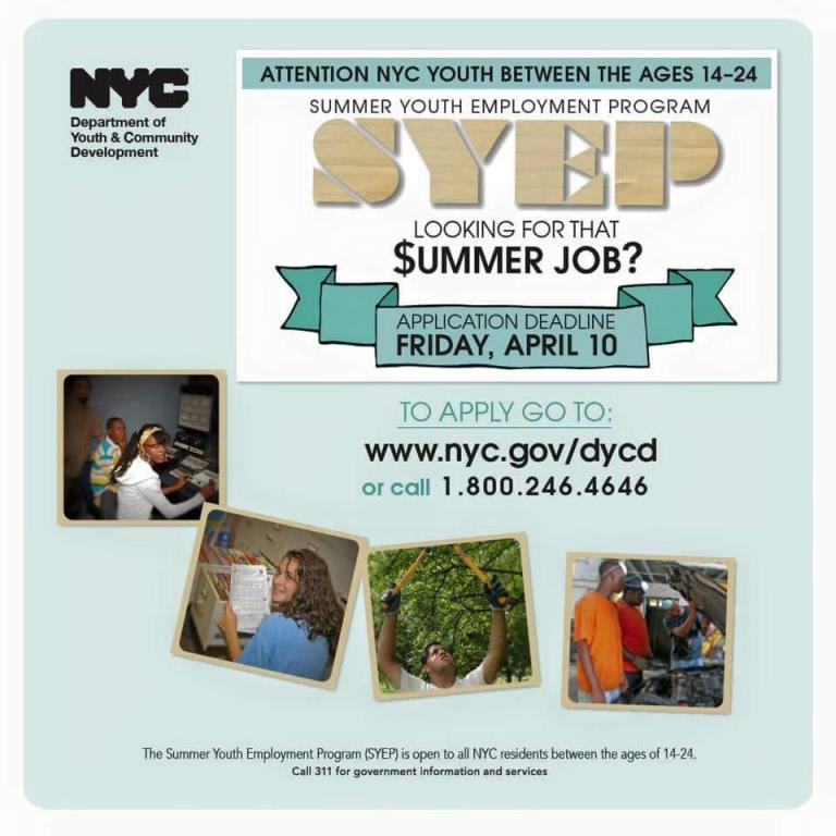Summer Jobs for teens! @sammitheteacher #summeryouth #harlem #eastharlem #spanishharlem