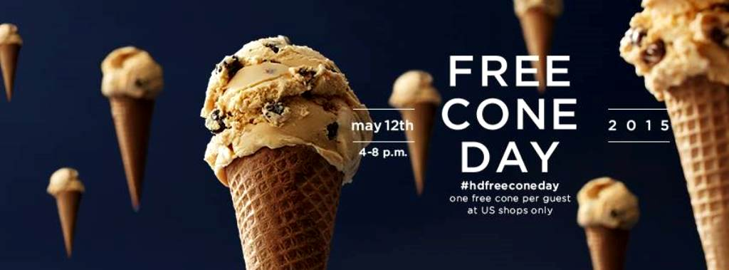 Free Cone Day at Haagen-Dazs  Tuesday