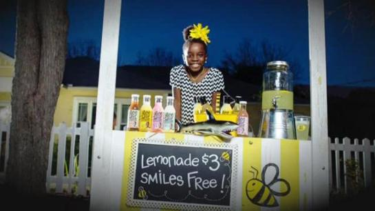 Ten-year-old's lemonade business inspired by bees