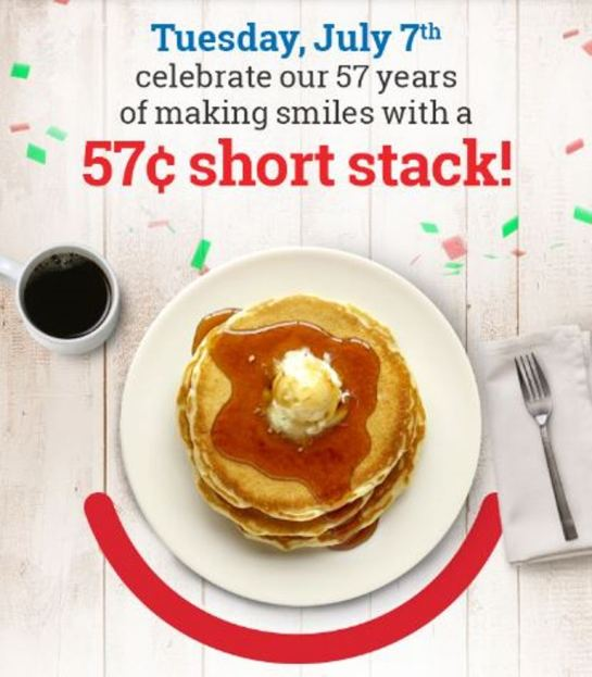 IHOP Celebrates Its 57th Anniversary With 57 Cent Short Stacks!