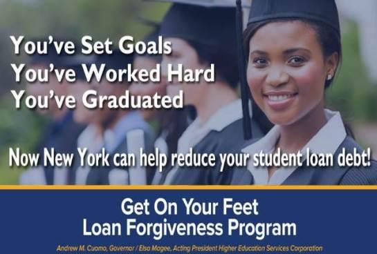 NYS Get On Your Feet Loan Forgiveness Program!