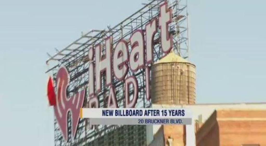 iHeartRadio Taking Over A Landmark Billboard To Bronx Residents.
