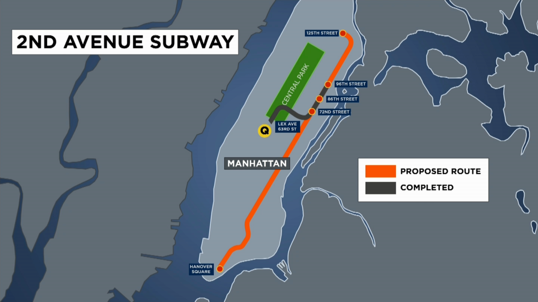 2nd Ave Subway Map Phase 1.Mta Looking To Cut Costs For The Next Phase Of The Second Avenue